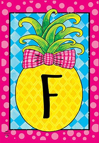 Briarwood Lane Pineapple Monogram Letter F Garden Flag Everyday 12.5