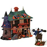 Department 56 Legends of Sleepy Hollow-ween Tavern with Sign Lit House and Accessory Figurine (Set of 2)