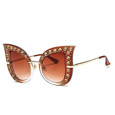 RinV Americana Diamante Ojo De Gato Gafas De Sol Caja Grande ...