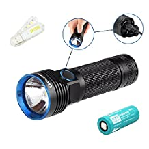 Bundle: Olight R50 Seeker Cree XLamp XHP50 LED 2500 Lumens Rechargeable Flashlight With Rechargeable 26650 4500mAh Battery+ Skyben USB Light