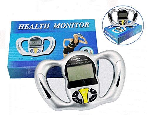 (Lolicute Portable Hand held Body Mass Index BMI Health Fat Analyzer Health Monitor Body Tape Silver)