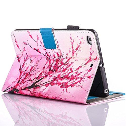 inShang iPad iPad Pro 9.7 Fundas soporte y carcasa para Apple iPad Pro 9.7 inch ((2016 Release) , smart cover PU Funda con Patrón de Diamante Peach blossom