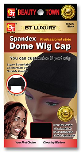 Beauty Town Luxury Spandex Dome Wig Cap Professional Style Black Number (Black Wig Cap)