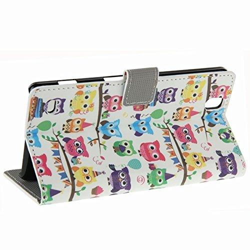 Beautiful & practical Azul patrón de mariposa Horizontal Flip caja de cuero con ranuras para tarjetas y cartera y titular para Sony Xperia C4 ( SKU : S-MLC-3762G ) S-MLC-3762G