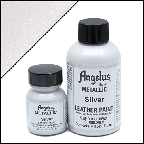Angelus Acrylic Leather Paint 1oz Silver