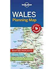 Lonely Planet Wales Planning Map 1 1st Ed.