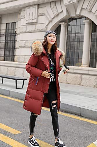 Locker Cappuccio Qualità Caldo In Cappotti Con Invernali Elegante Giubotto Plus Outwear Stlie Addensare Alta Manica Lunga Donna Pelliccia Piumini Fashion Prodotto Rosso Giaccone Di Unique nO8wqUx0ZI