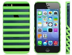 TR Recorte de plástico de diseño para iPhone 5S / 5 (verde)