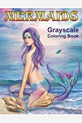 Mermaids Grayscale Coloring book: Coloring Books for Adults Paperback