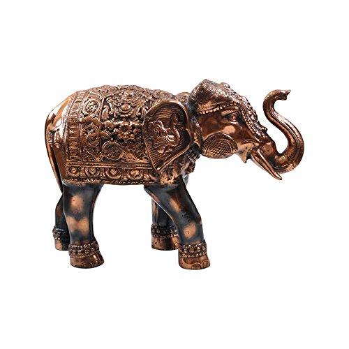 Ambari Elephant (Brass Finish) - Nautical Decor by Nautical Decor