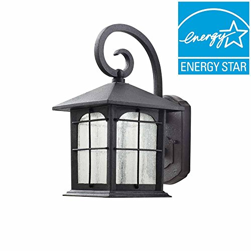 - Home Decorators Collection Aged Iron Outdoor LED Wall Lantern