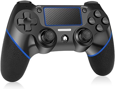 Mando Inalámbrico para PS4, RegeMoudal Mando para PS4/Pro/Slim/PC con Touch Pad y Conector de Audio Doble vibración Antideslizante Wireless Bluetooth Gamepad Controlador Inalámbrico para Playstation 4: Amazon.es: Electrónica