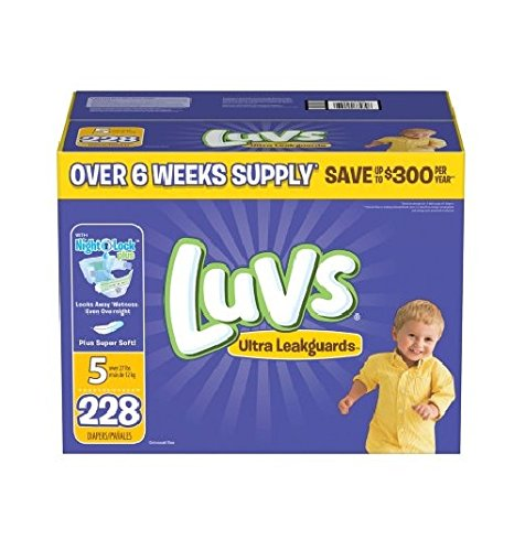 Luvs Ultra Leakguards Diapers, Size 5, 228 Count by Luvs