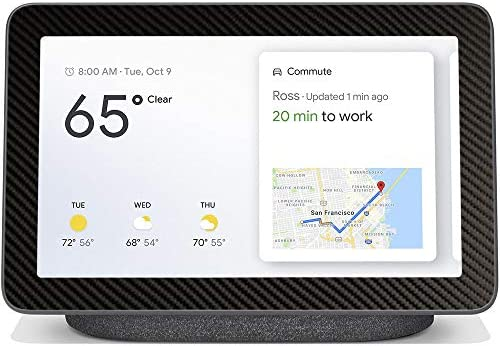 BocaDecals Skin for Google Nest Hub 7″   Protective, Durable, and Unique Vinyl Decal Wrap Cover   Made in The USA (Black Carbon Fiber) – The Super Cheap