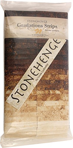 Stonehenge Gradations Iron Ore Stone Strips 40 2.5-inch Strips Jelly Roll Northcott (Stone Strip)