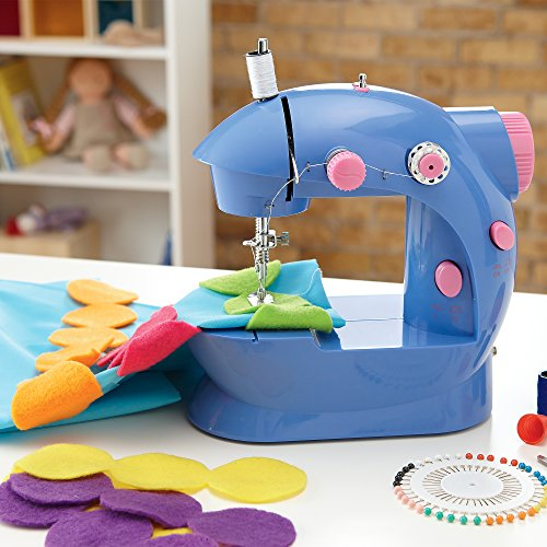 Alex Toys Sew Fun Beginner Sewing Machine with Rainbow Dot Pillow Kit