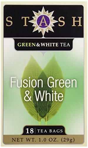 Stash, Fusion Green & White Tea, Tea Bags, 18 ct