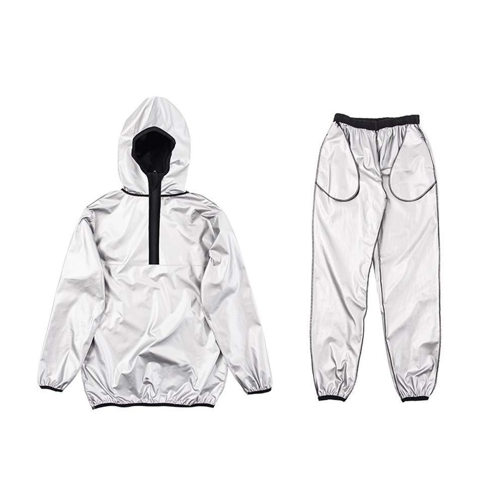 Point Fixe G2 Half-Zipper Black-Gray Set Weight Loss Sweat Suit Sauna Suit