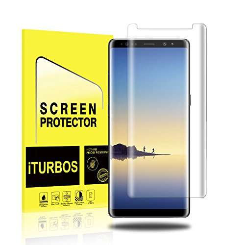 Galaxy Note 8 Screen Protector [2-Pack], iTURBOS Full Screen Coverage 3D PET HD Screen Protector Film for Samsung Note 8 2017.