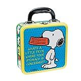 Vandor Square Tin Tote, Peanuts Lunch Box