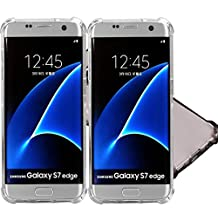 3Pack Galaxy S7 Edge Clear Case, ibarbe Slim Fit Heavy Duty Protection Scratch Resistant TPU Bumper Case Cover for Samsung Galaxy S7 edge not for S7