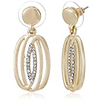 Pout Out Drop Earrings for Women (Gold) (EAR-DGL-224)