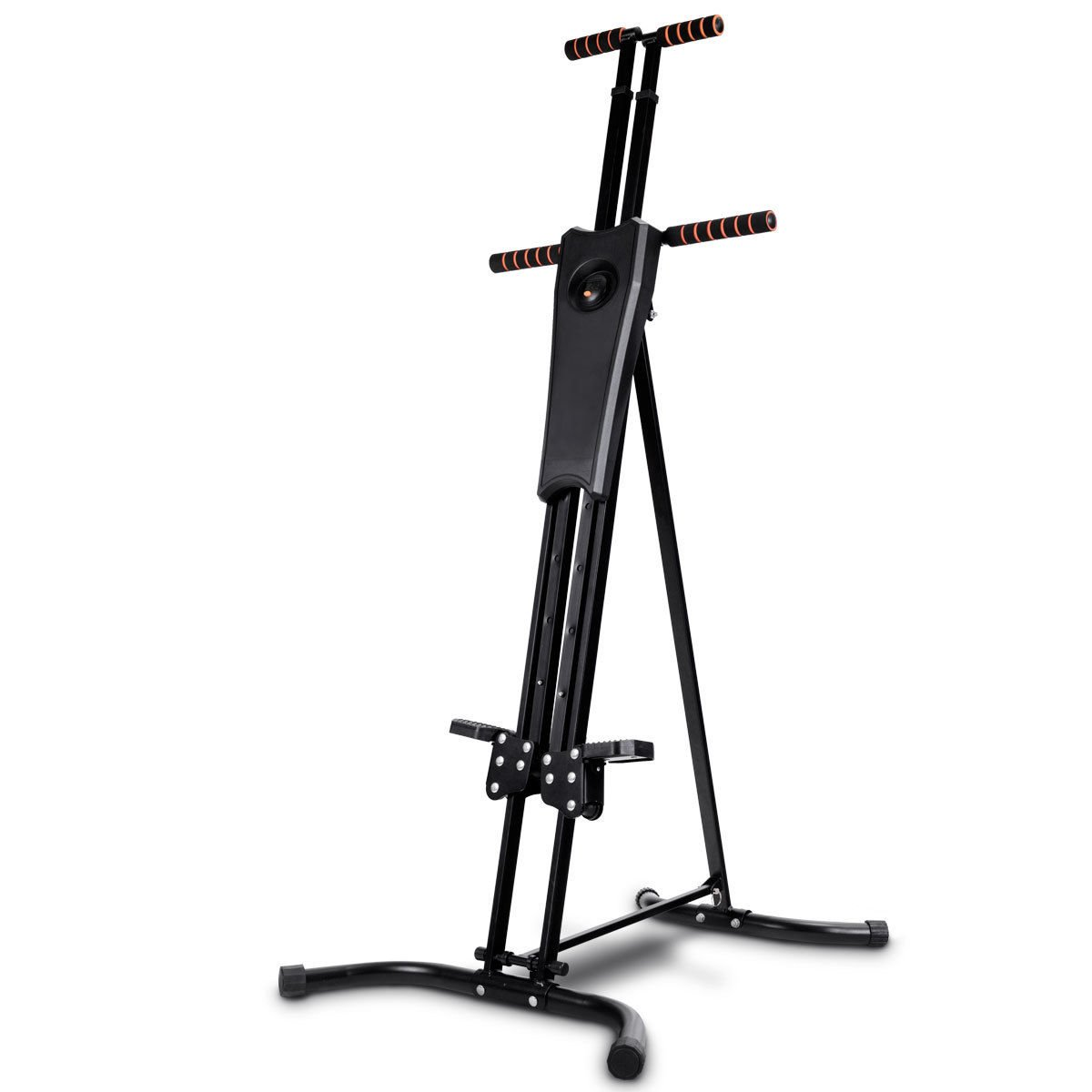 Goplus Vertical Climber Folding Stepper Climbing Exercise Machine w/Adjustable Height LCD Display Cardio Climbing System Home Gym