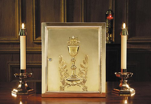 Tabernacle - Ornate Chalice and Host Design - Solid Brass Construction by Sudbury