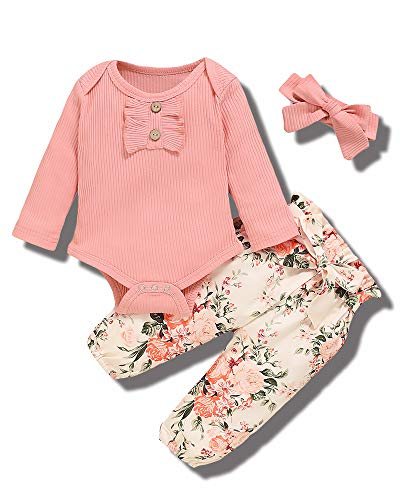Newborn Baby Girl Clothes Romper Onesie Pants Infant Outfits Toddler Baby Girl Clothes Set