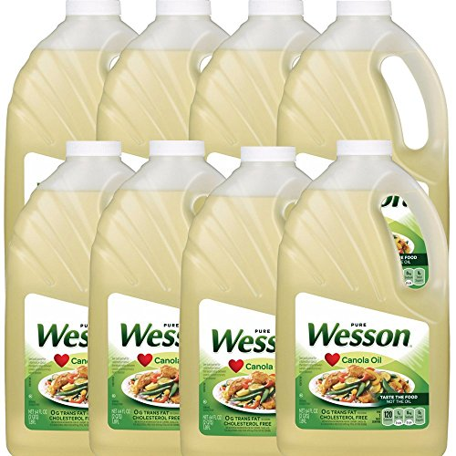 Wesson Pure Canola Oil, 64 oz (Pack of 8) (Wesson Oil)