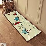 floor mats home Anti Slip Floor Mat Effiel Tower slip-resistant Door mat /Charpet /rug /kitchen bedroom barthroom floor mats 40X100CM floor mats office (underwear)