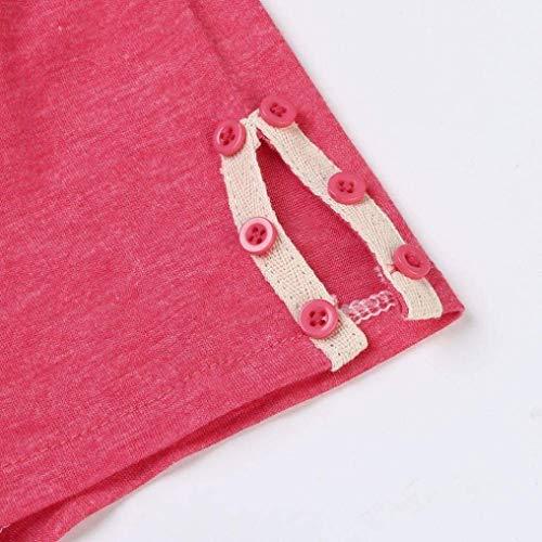 shirts boutonnage Zhrui manches à longues longues 24 patte femmes et manches et à taille en de T Couleur sexy pour V col rose à 5x5ZrX6
