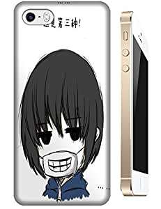 Handsome Boy With Respirator Teeth Long Hair Cute Cartoon Cases Design For Apple Accessories iPhone 4/4S