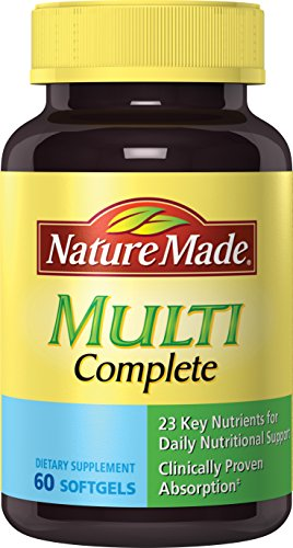 Nature Made® Multivitamin Complete w. Vitamin A, C, D, E, B, Iodine and Zinc Softgels 60 Ct