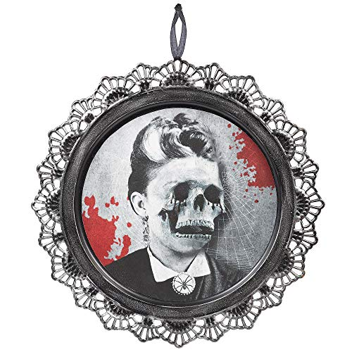 Amscan Dark Manor Skeleton Portrait Signs, 2 Count, Feature Bloody Victorian-Style Skeleton Portraits, Measure 12 Inches ()
