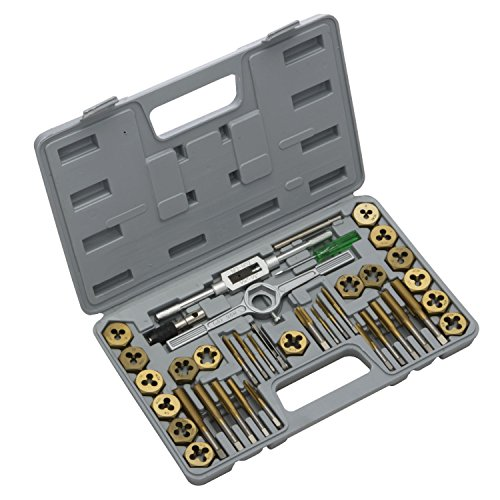 Neiko 00911A Tap and Die Set, Premium, SAE, Titanium Coated, 40-Piece