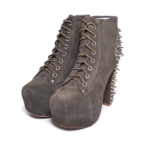 Jeffrey Campbell Lita Spike Suede Grey