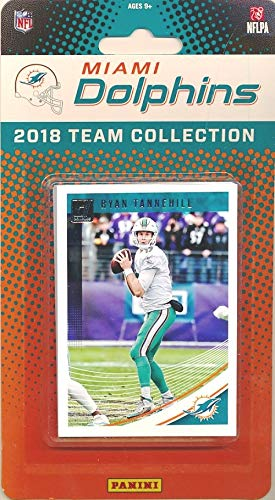 Miami Dolphins 2018 Donruss NFL Football Factory Sealed Limited Edition 14 Card Complete Team Set Ryan Tannehill, Danny Amendola, Minkah Fitzpatrick RC & Many More! WOWZZER!