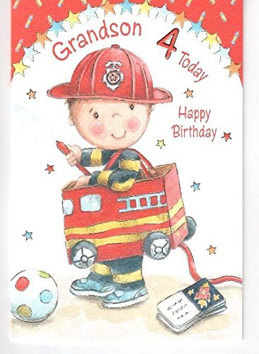 Amazon Happy 4th Birthday Grandson Card By Birthday Card Home