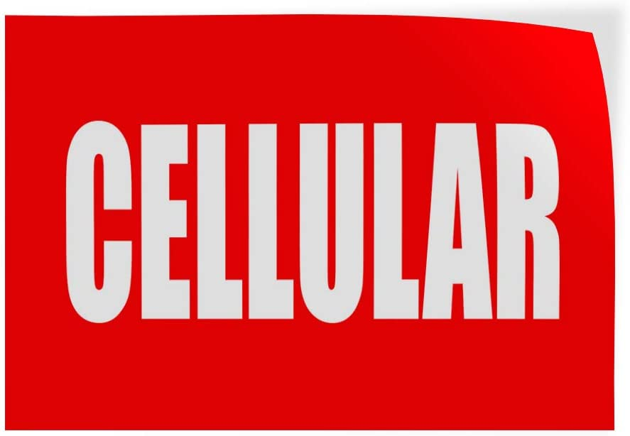 Set of 10 14inx10in Decal Sticker Multiple Sizes Cellular Red and White Retail Fix cellphones Outdoor Store Sign Red