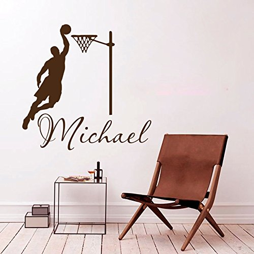 Pared Vinilo Adhesivo Adhesivo Deporte jugador de baloncesto juego ...
