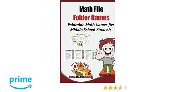 photograph regarding Middle School Math Games Printable known as Math History Folder Online games: 42 Printable Math Game titles for Heart