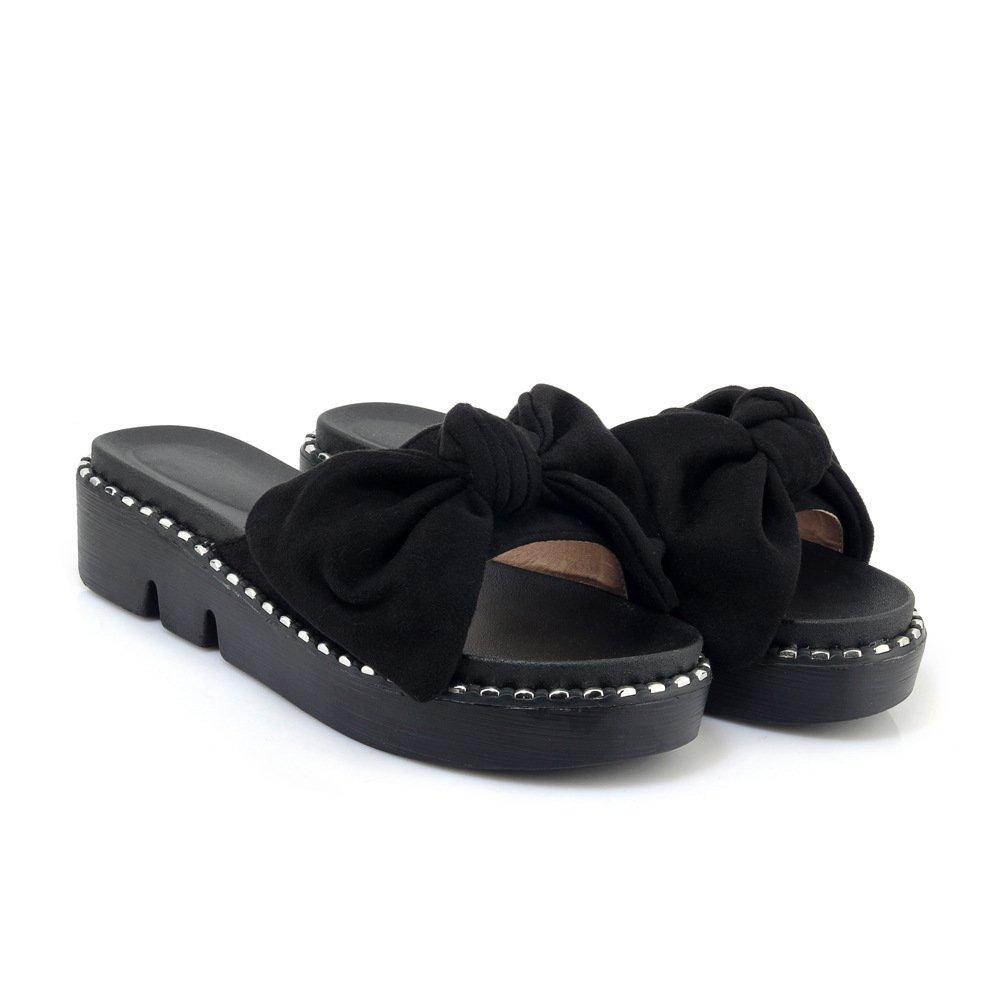 Sandales décontractées Sandales pour Femmes, Femmes, Chaussures à Talons, Noir Pantoufles Noir df7ed23 - robotanarchy.space