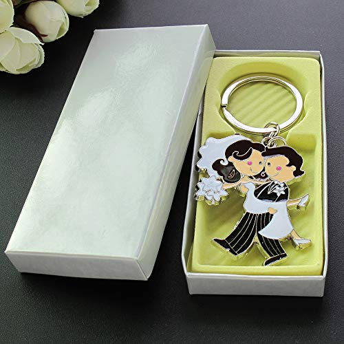 Wedding Favors (12 PCS) Couple Party Keychains Giveaways Llaveros Recuerdos De Boda