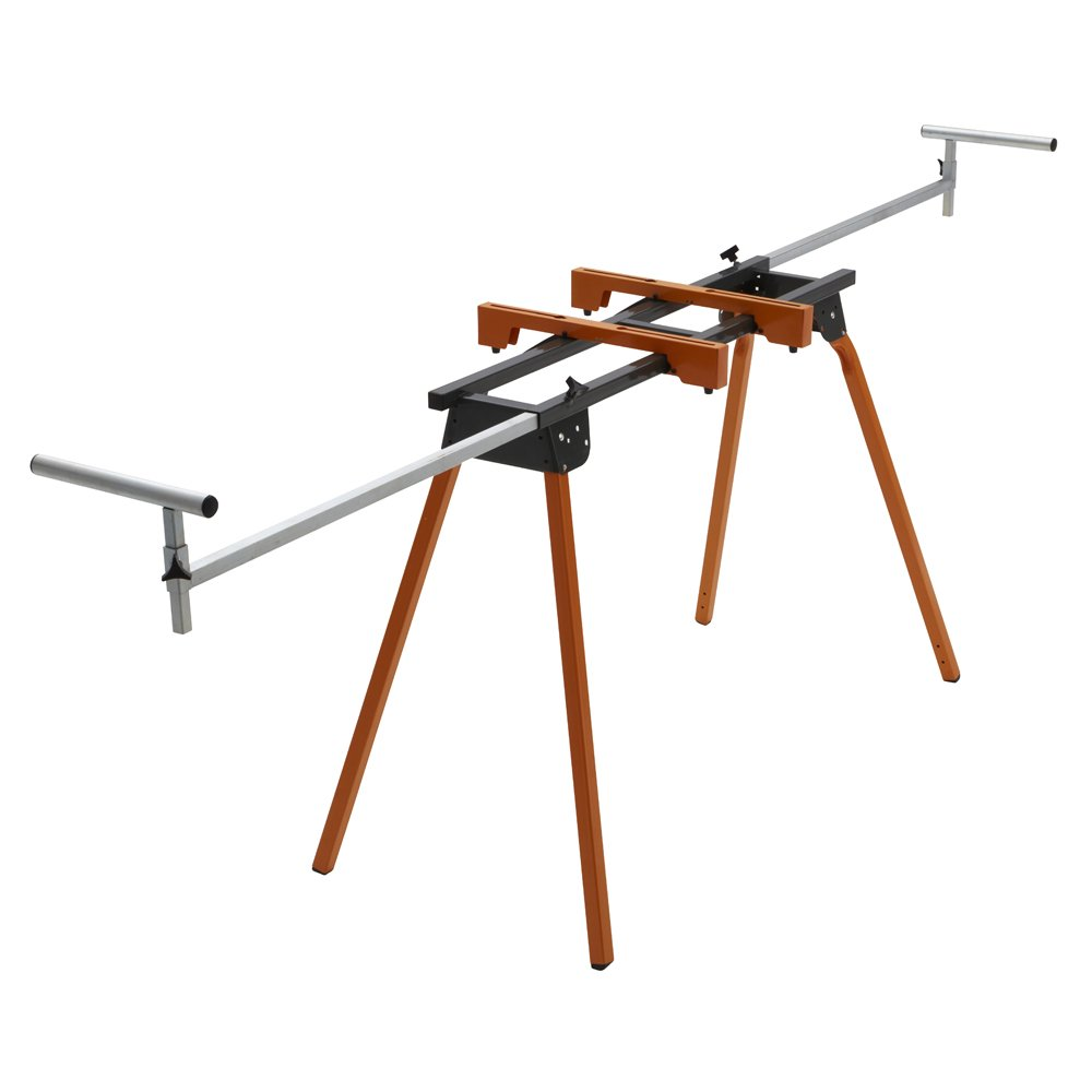 BORA Portamate PM-4000 - Heavy Duty Folding Miter Saw Stand with Quick Attach Tool Mounting Bars by HTC