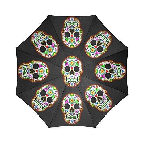 Replacement Small Toothpicks (Sugar Skull Dia De Los Muertos Folding Windproof outdoor Travel Umbrella for Women)