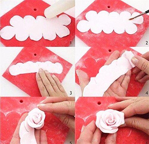 Money coming shop 3 pcs/set Rose Flower Cake Mold Plastic White Rose Flower Fondant Cutter Cake Decorating Mold Sugarcraft Biscuit Cutter