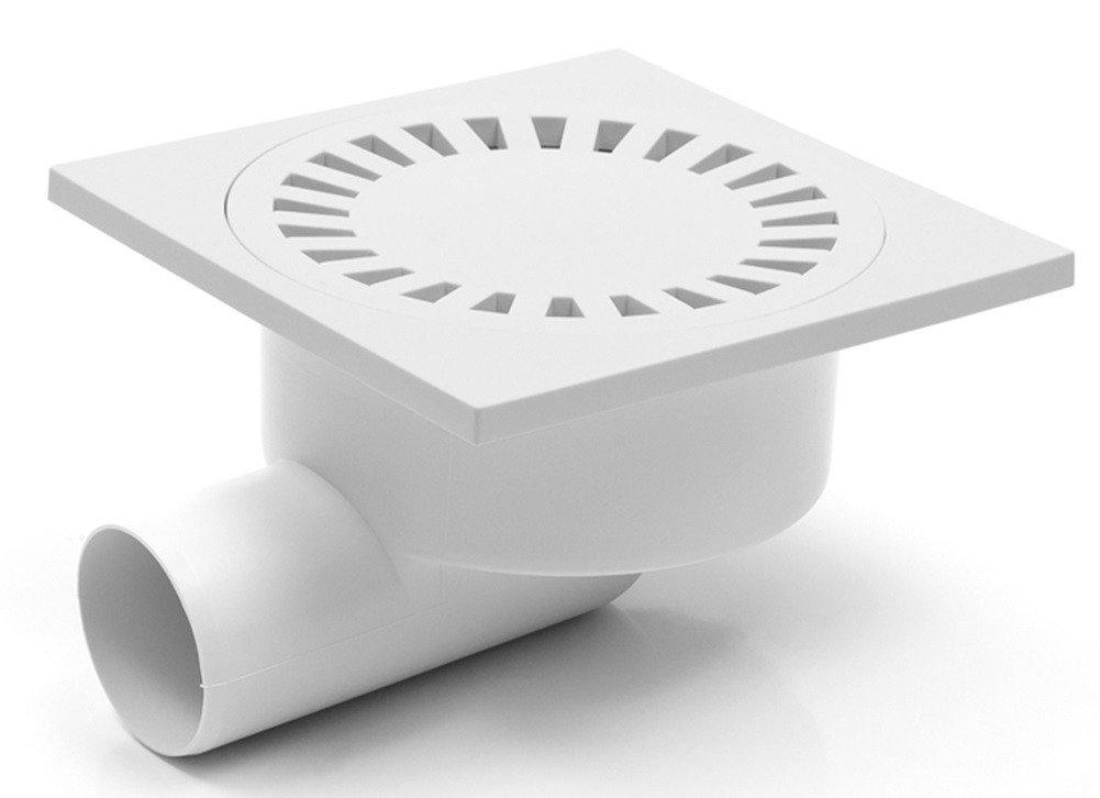 Siphon de douche en plastique - 150 x 150mm - DN50 (326 P).