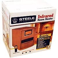 Steele Products Infrared Heater SP-H11500RC 1500 Watt 6 Quartz Emitters