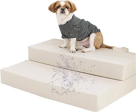 Escalera Mascota Capaz RZBAO Plegable Chaqueta De Cuero Sin Lavar High Rebound Esponja Escalera For Mascotas (Color : Gray, Size : 75x60x20cm): Amazon.es: Hogar